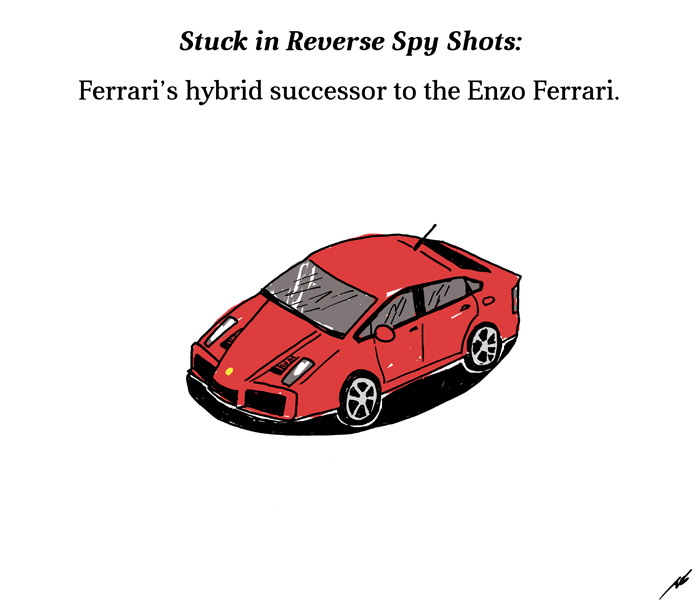 Spy shot of Ferrari's hybrid successor to the Enzo Ferrari