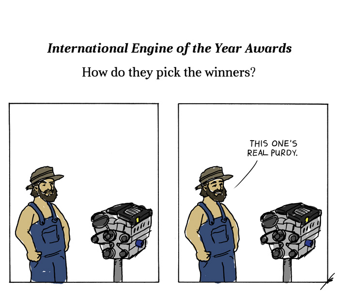 Hillbilly judging engine designs