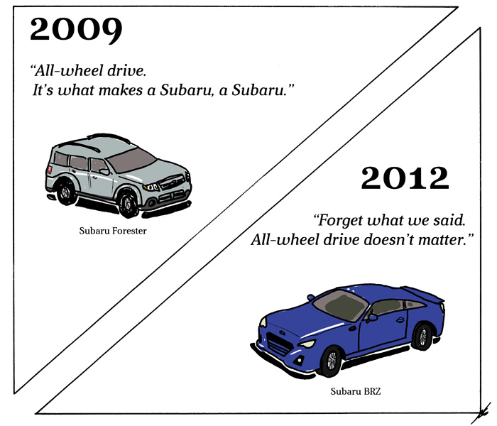 It's what makes a Subaru, a Subaru.