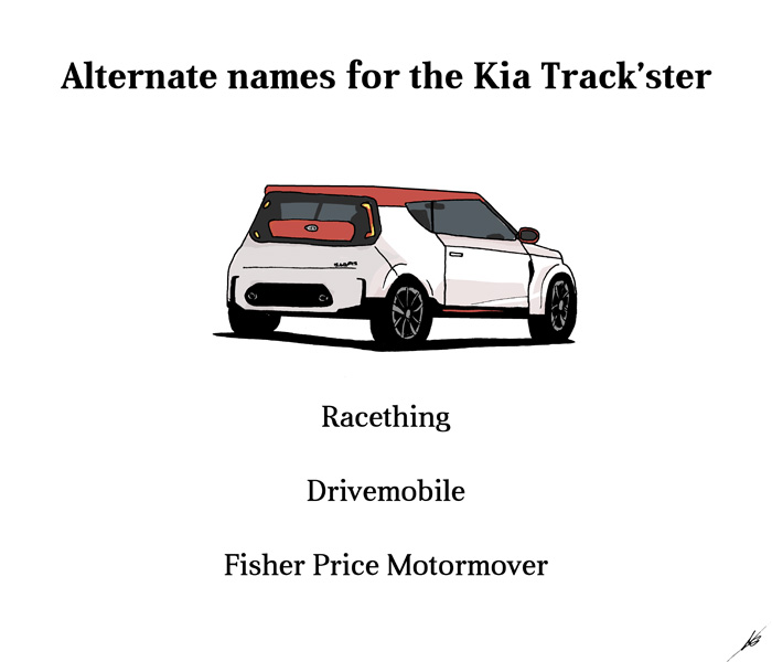 Alternate names for the Kia Track'ster