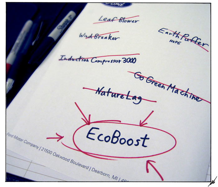 EcoBoost brainstorming session