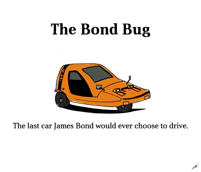 The Bond Bug - the last car James Bond would ever choose to drive.