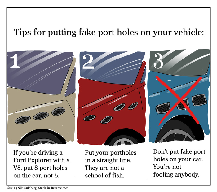 Tips for putting fake port holes on your vehicle