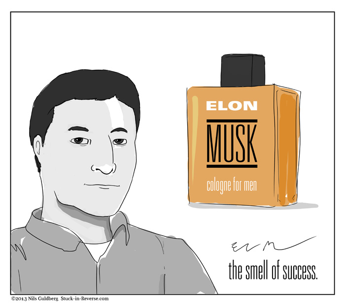 Elon MUSK - cologne for men. The smell of success.