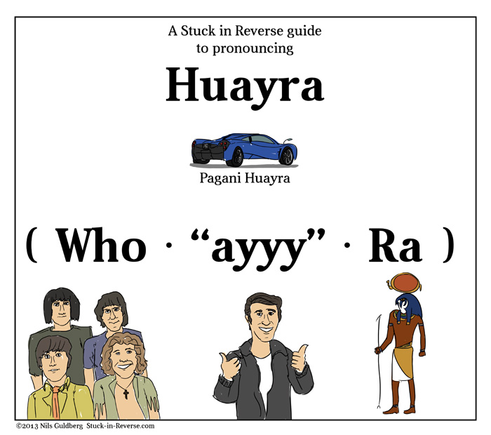 A Stuck in Reverse guide to pronouncing Huayra