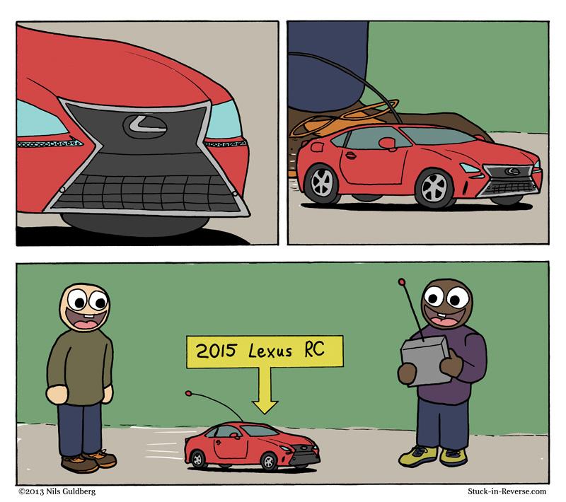 Unintended Acronym - 2015 Lexus RC