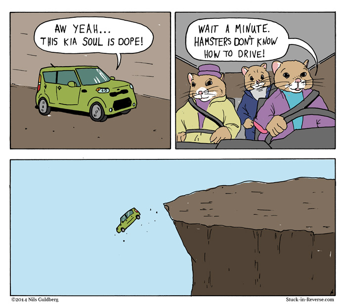 Kia Hamsters - hamsters can't drive