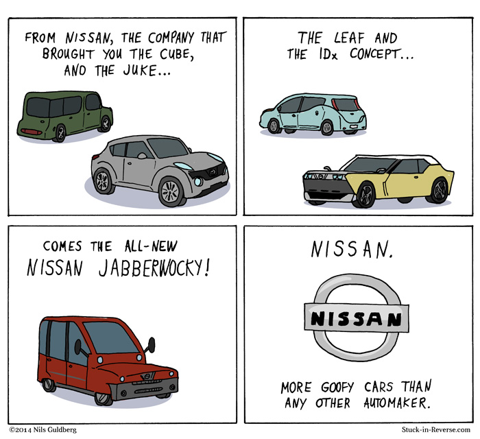 Nissan - more goofy cars than any other automaker